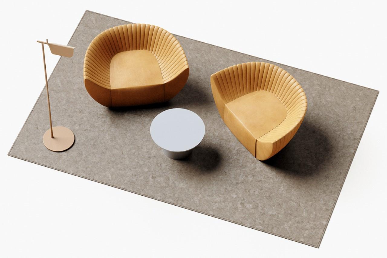 Corrugated Sofa by Johan Kim